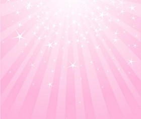 Light with stars and pink background vector