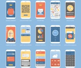 Mobile application design vector