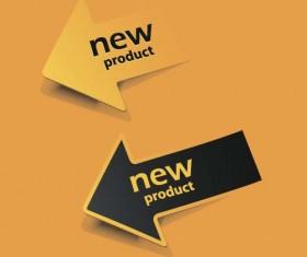 New pruduct arrow labels vector