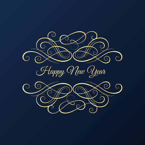 new year card with blue background free download