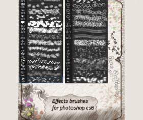 Ornaments effects Photoshop Brushes