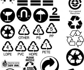 Packing warning icon set