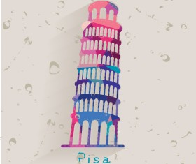 Pisa Leaning Tower vector material