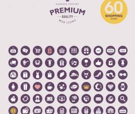 Premium web icons set vector