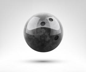 Realistic bowling ball vector design 01