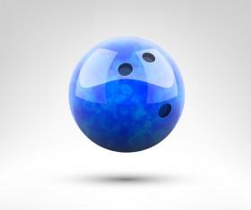 Realistic bowling ball vector design 02