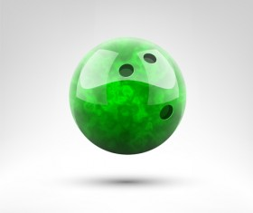 Realistic bowling ball vector design 03