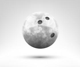 Realistic bowling ball vector design 04