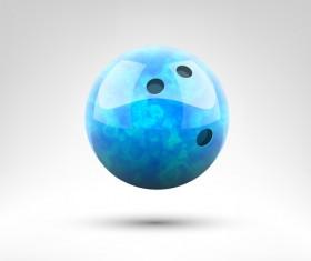 Realistic bowling ball vector design 05