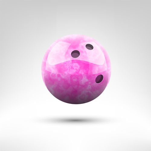 Realistic bowling ball vector design 07