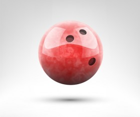 Realistic bowling ball vector design 08