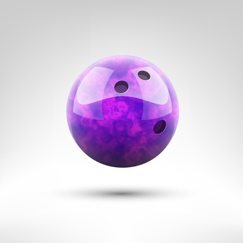 Realistic bowling ball vector design 09