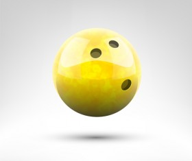Realistic bowling ball vector design 10