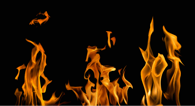 Realistic flame with black background vector 05 - Vector ...