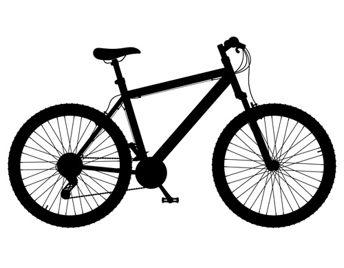 realistic sports bicycle vector template set 08 free download