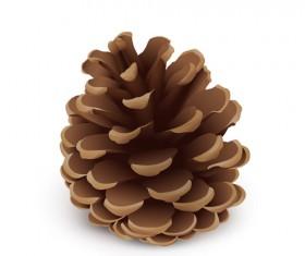 Realistlic pine cone vector material