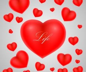 Red heart shiny vector