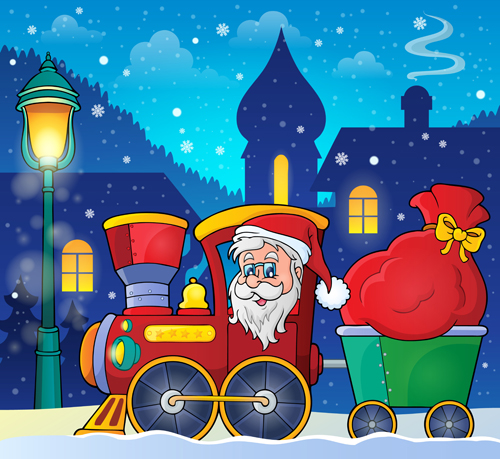 Santa Claus Cartoon Cute Vector 01 Vector Cartoon