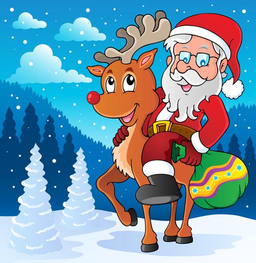 Cute cartoon christmas santa - photo#48