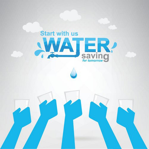 Save Water Creative Vector Template 05 Free Download