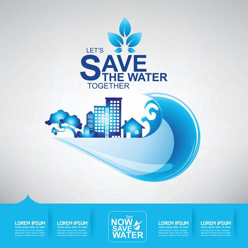 Save Water Creative Vector Template 09 Free Download