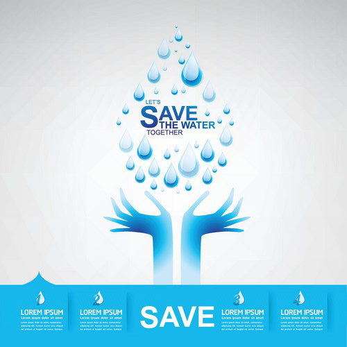 Save Water Creative Vector Template 14 Free Download