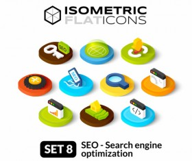 Search engine optimization icons vectors set 01