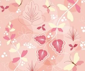 Simple flower pattern seamless vector 02