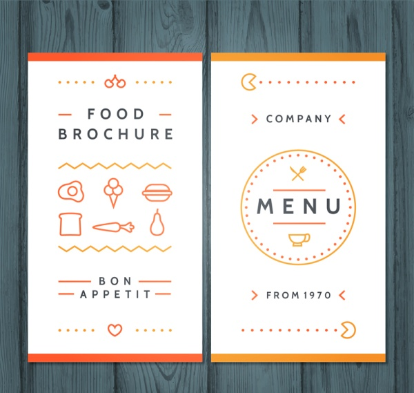 simple menu design vectors free download