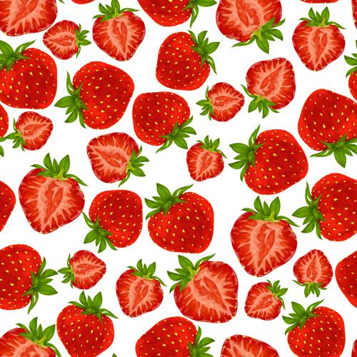 Strawberry Pattern Seamless Vector Free Download Stunning Strawberry Pattern