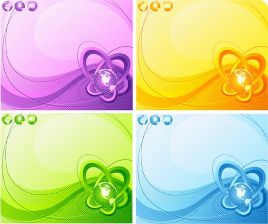 Stylish Earth With Abstract Backgrounds Vector Free Download