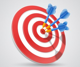 Target with darts vector illustration vector 04