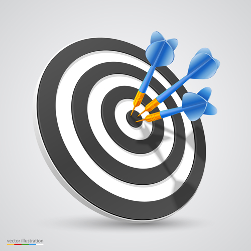 Target with darts vector illustration vector 05