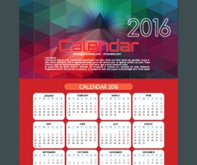 Technology background with 2016 calendar vector 01