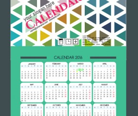 Technology background with 2016 calendar vector 10