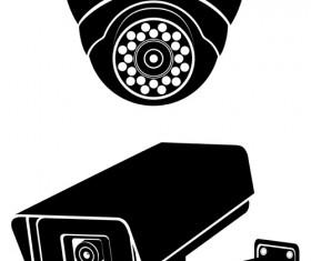 Vector surveillance cameras silhouetters