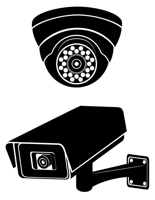 Vector surveillance cameras silhouetters - Vector Silhouettes free ... Vintage Camera Backgrounds