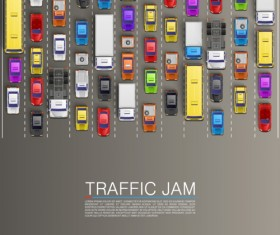 Vector traffic jam background