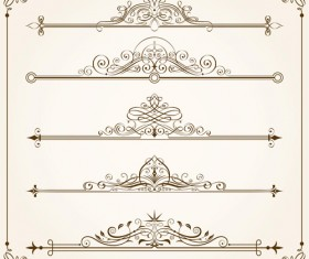Vintage calligraphic frames with border vector 01