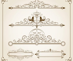 Vintage calligraphic frames with border vector 02