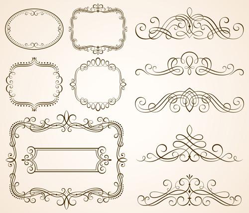 ... vector 02 - Vector Frames & Borders, Vector Ornament free download