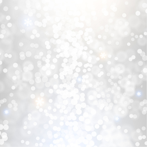 white light dot with blurs christmas background vector 04