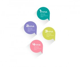 colored text bubble psd material