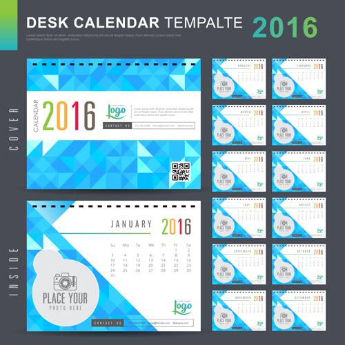 New Year Calendar Designs : New year desk calendar vector material