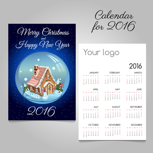 2016 calendars with christmas cards vector set 10 free download 2016 calendars with christmas cards vector set 10 m4hsunfo