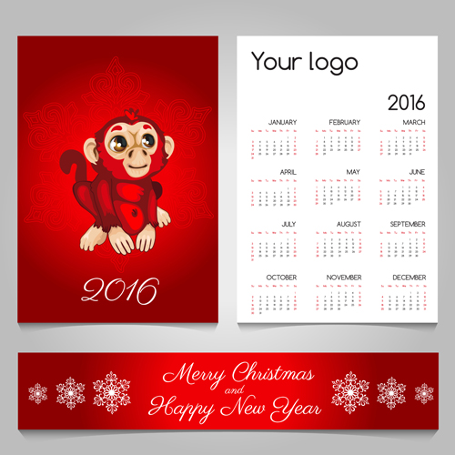 2016 calendars with christmas cards vector set 16 free download 2016 calendars with christmas cards vector set 16 m4hsunfo