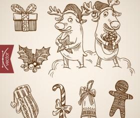 2016 christmas baubles hand drawn vectors set 03