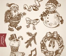 2016 christmas baubles hand drawn vectors set 09