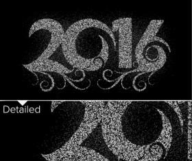 2016 new year design black  vector 07