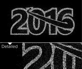 2016 new year design black  vector 08